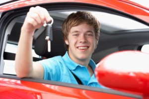Driving Lesson Student in car with keys
